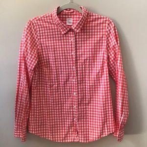 J Crew The Perfect Shirt gingham